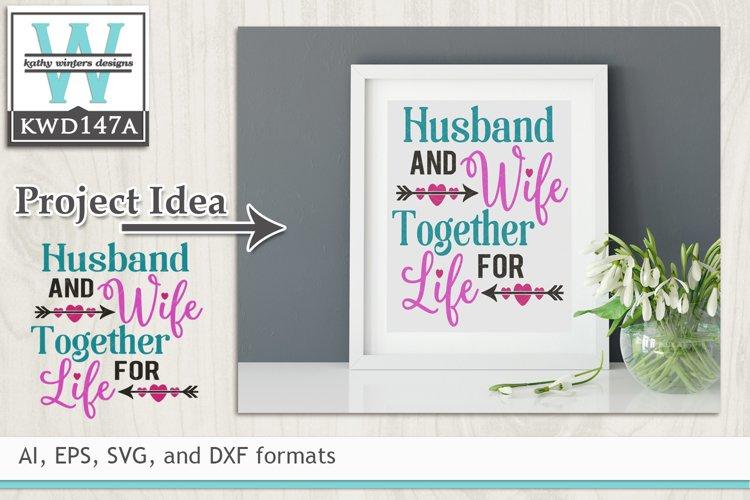 Wedding SVG - Husband And Wife example image 1