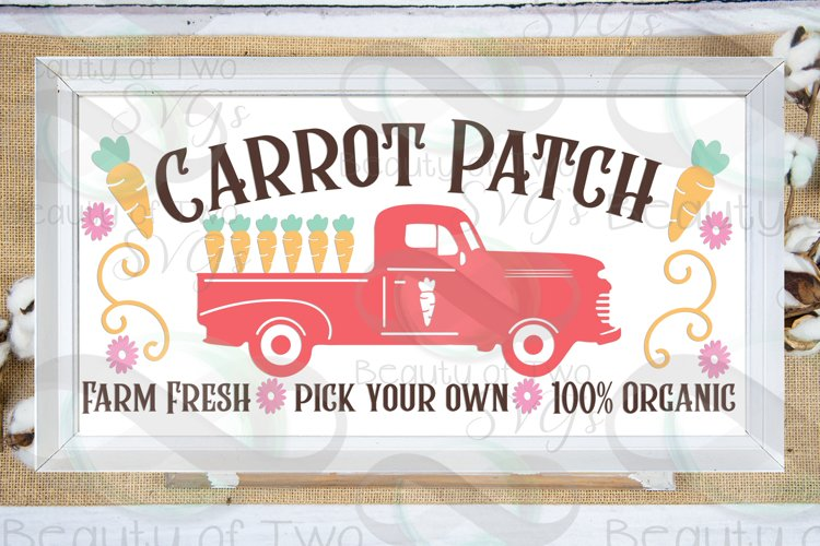 Easter Vintage Truck Carrot Patch svg, Vintage Truck svg,