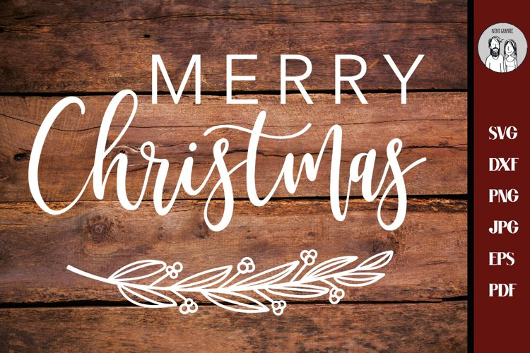 Merry Christmas svg, Christmas svg, Christmas Sign svg, example image 1