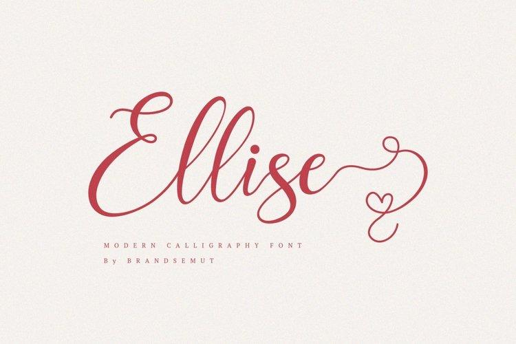 Ellise - Lovely Script Font example image 1