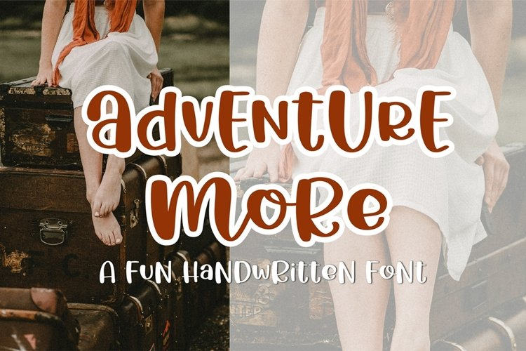 Adventure More - a fun handritten font