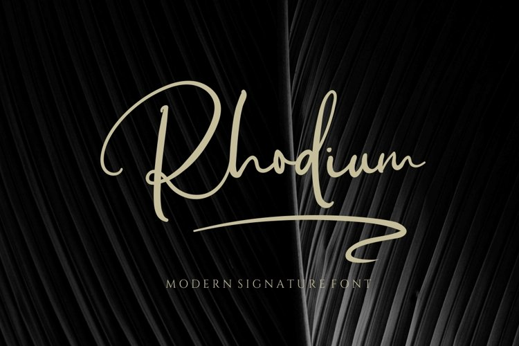 Rhodium - Signature Font example image 1