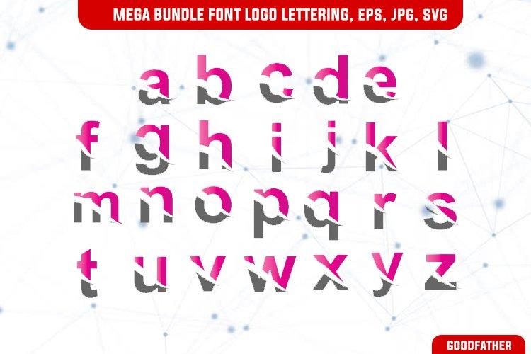 Mega Bundle Font Logo slice lettering, Pink colour example image 1