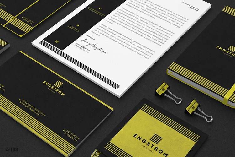 Black and Yellow Corporate Identity Template