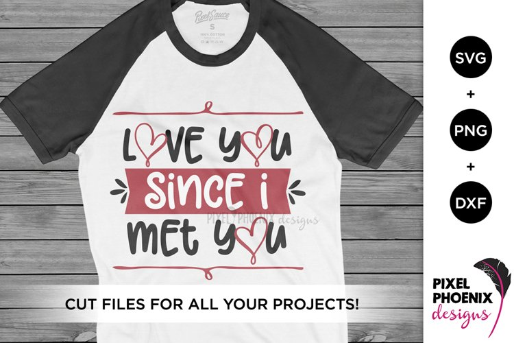 Love You Since I Met You SVG, Valentines SVG example image 1