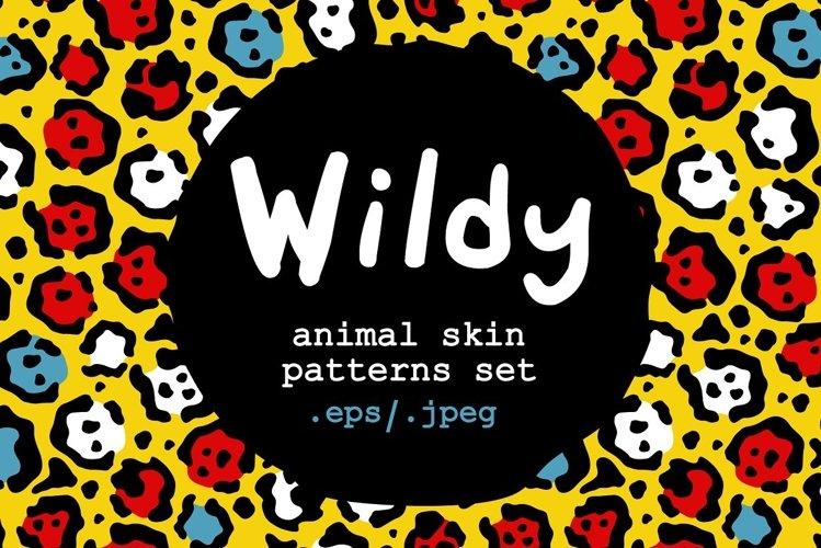 WILDY   animal skin patterns set example image 1