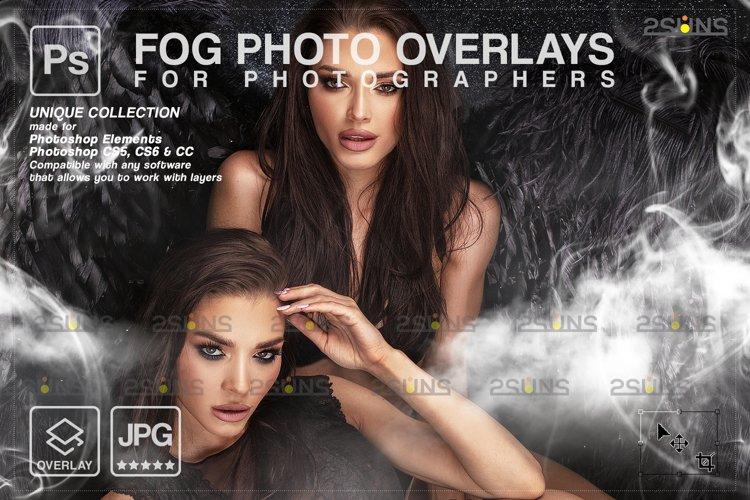 Smoke backgrounds & Smoke bomb overlay, Photoshop overlay example image 1