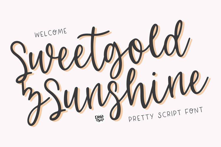 SWEETGOLD & SUNSHINE Romantic Script