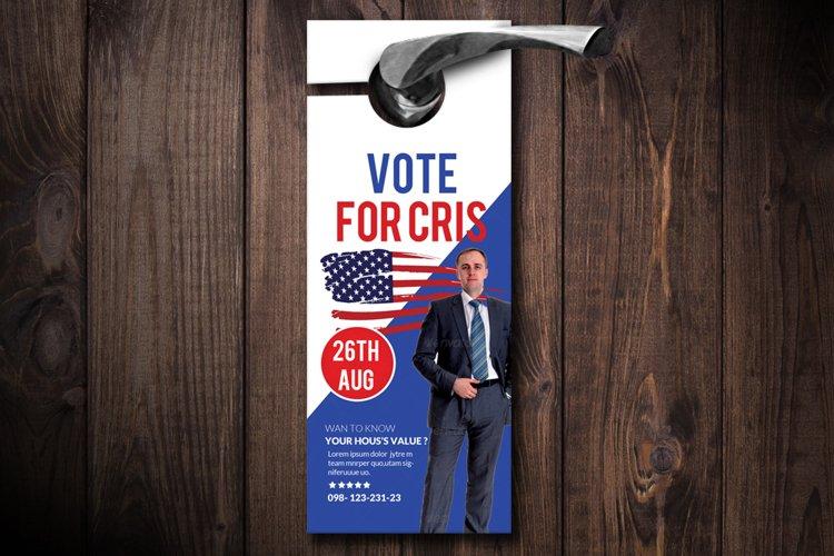 Political Election Door Hangers example image 1
