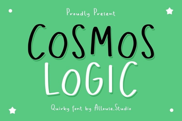 Web Font - Cosmos Logic - Quirky Font example image 1