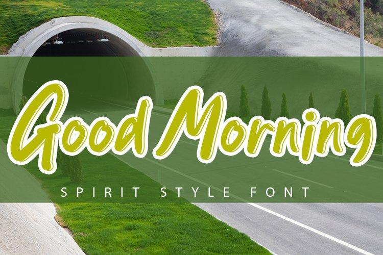 Good Morning - Beautiful Green Font example image 1