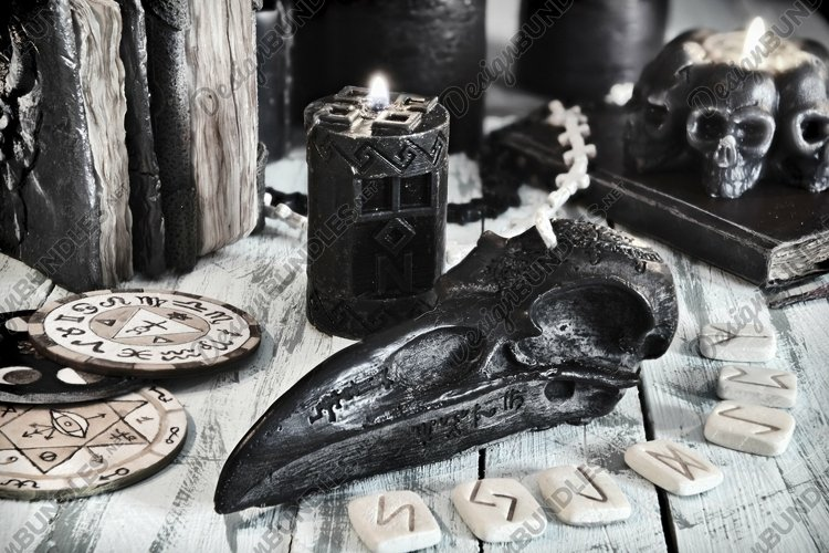 Still life with runes