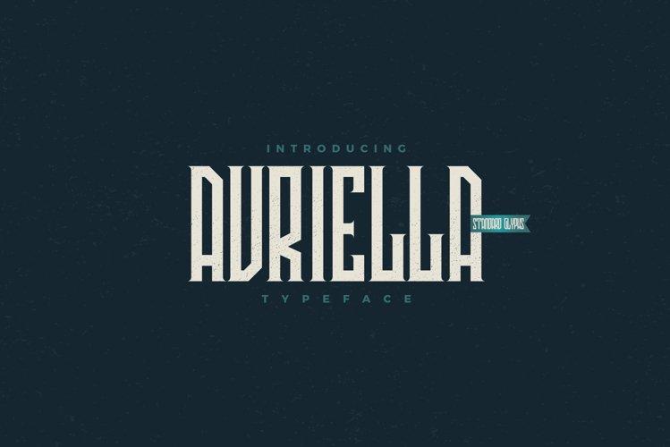 Avriella Display Font example