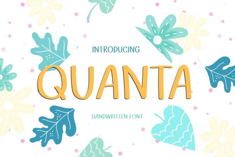 Quanta - A Cute Handwritten Font example image 1