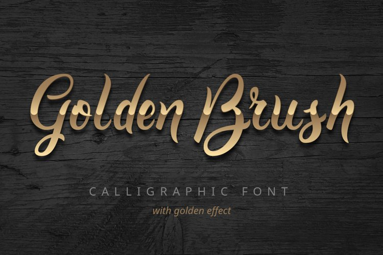 Golden Brush font example image 1