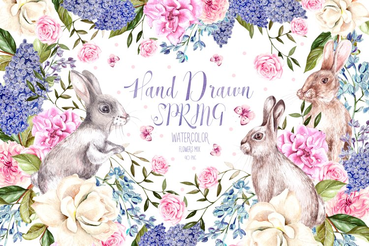 Hand Drawn Watercolor Spring example image 1