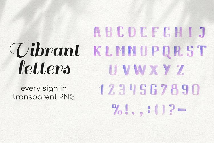 Vibrant Watercolor Letters and Numbers Clipart Alphabet