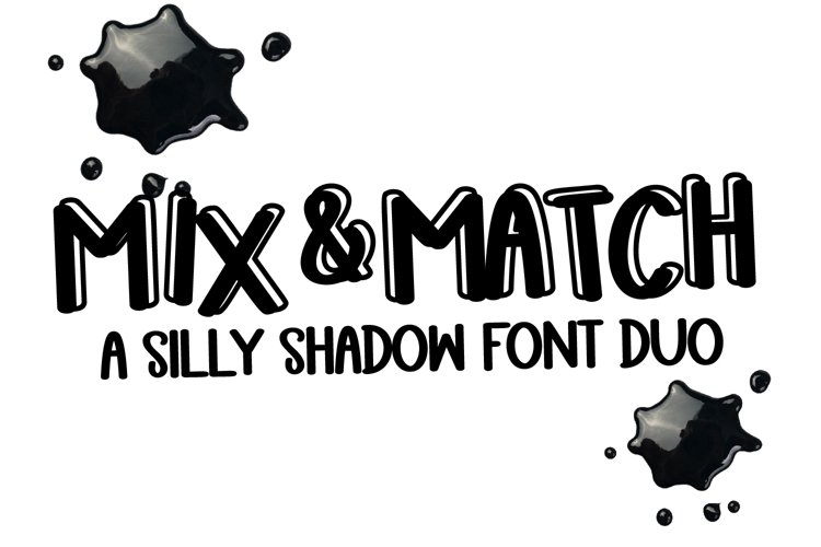 Mix N Match - A Shadow Font Duo example image 1