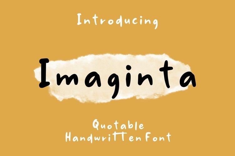 Web Font Imaginta - Handwritten Fonts example image 1