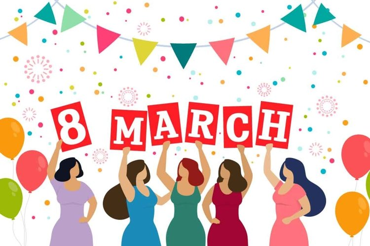 Happy Women's Day - vector collection example image 1
