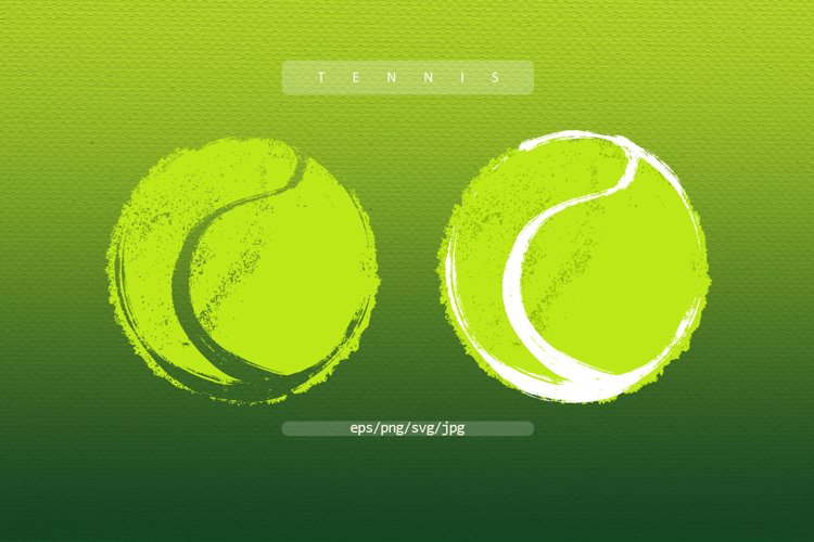 Abstract Tennis balls