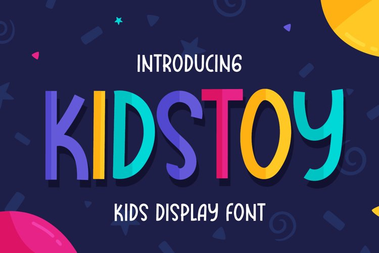 Kidstoy - Kids Display Font example image 1