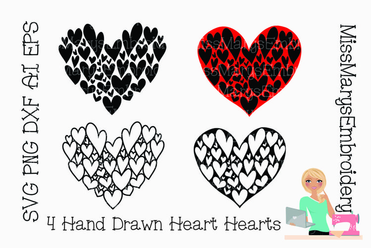 SVG Heart Hearts | Valentine's Day SVG | Hearts SVG | example image 1
