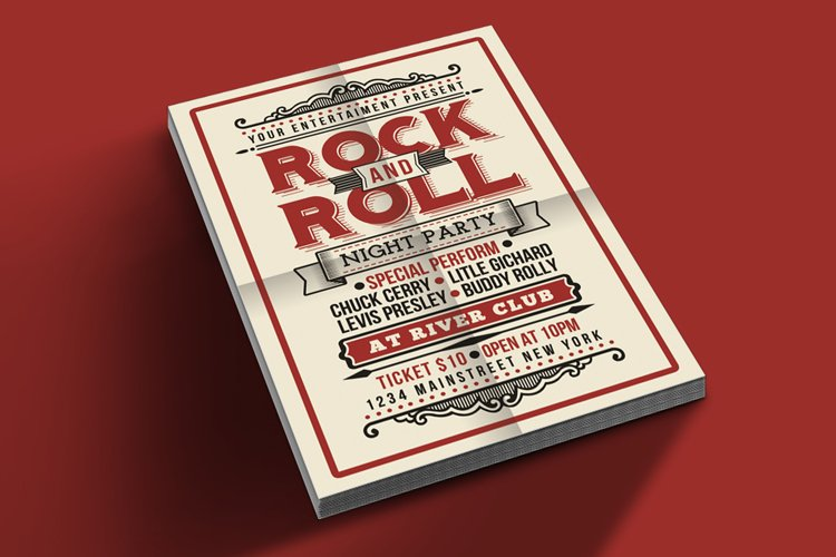 Vintage Rock and Roll Music Party example image 1