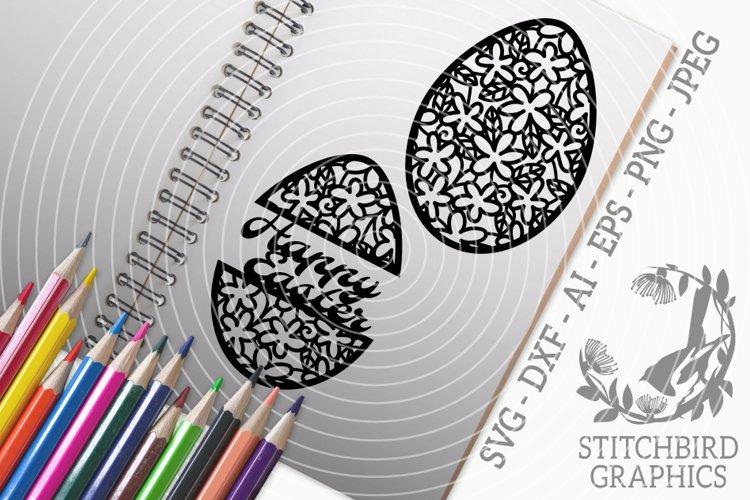 Spring Easter Eggs Bundle SVG, Silhouette Studio, Cricut example image 1
