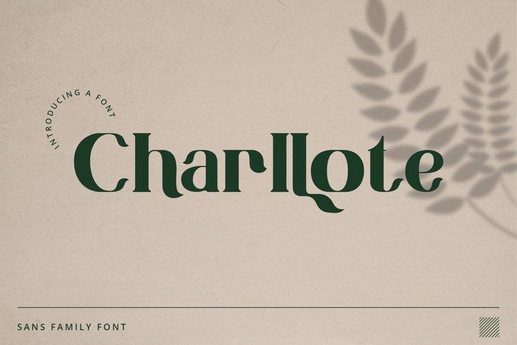 Charllote Sans Font example image 1
