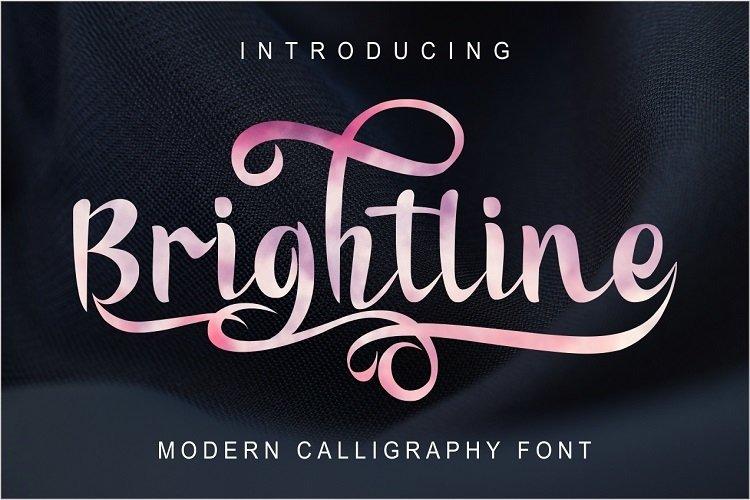 Brightline Modern Calligraphy example image 1