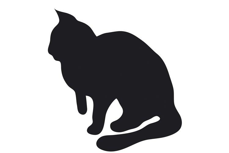 Black silhouette of cat. example image 1