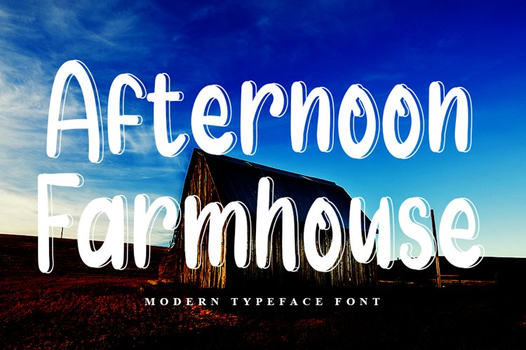 Afternoon Farmhouse | Modern Display Font example image 1