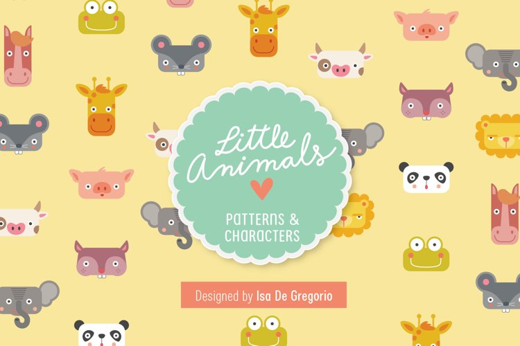 Little Animals Patterns + Characters