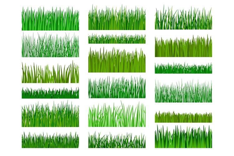 Grass border horizontal seamless pattern example image 1