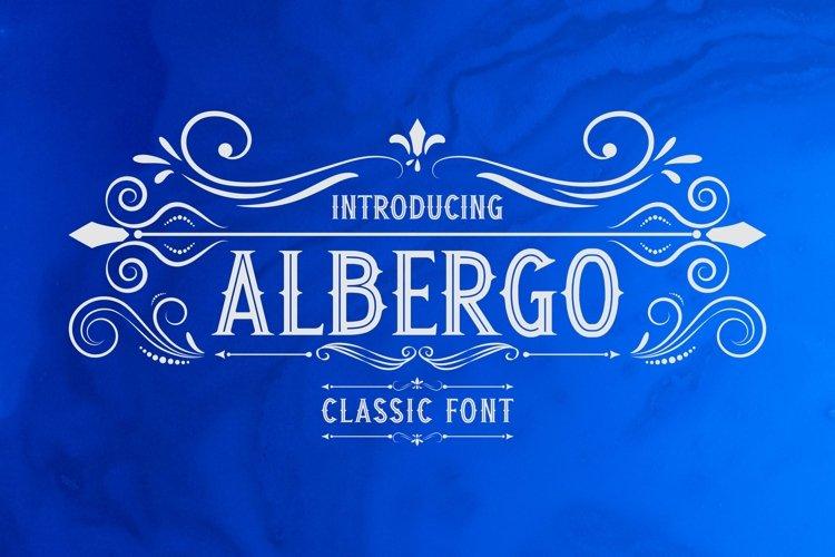 Web Font Albergo Display example image 1