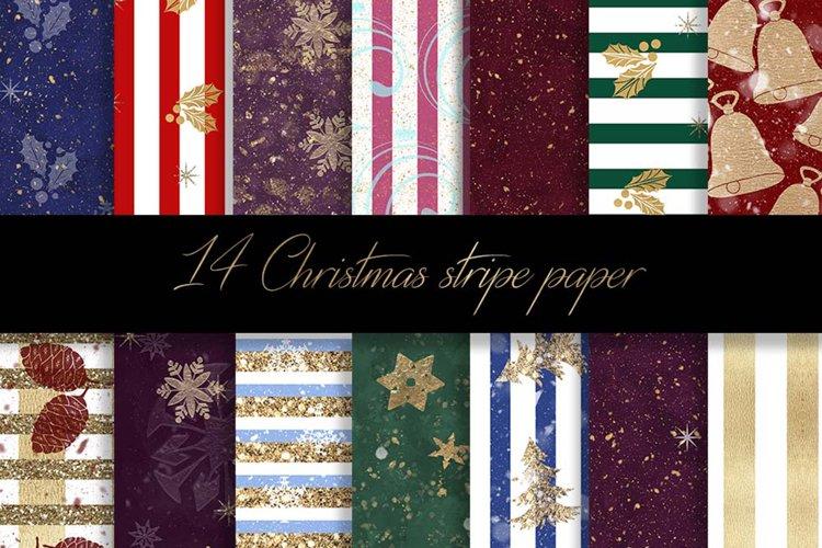 Christmas stripe digital paper pattern example image 1
