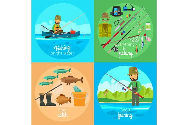Fishing vector concept