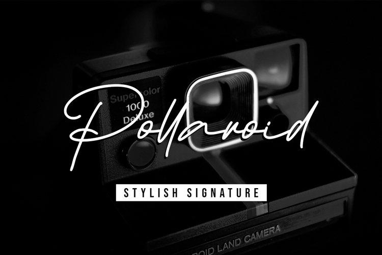 Pollaroid - Stylish Signature Font example image 1