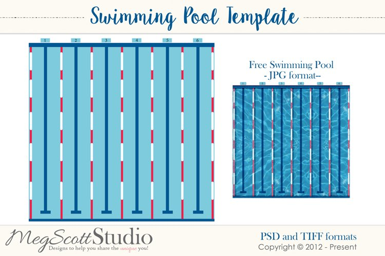 Swimming Pool Layered Template