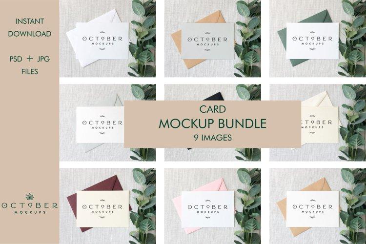 Bundle Mockup Card and Envelope in PSD and JPG | Card mockup example image 1