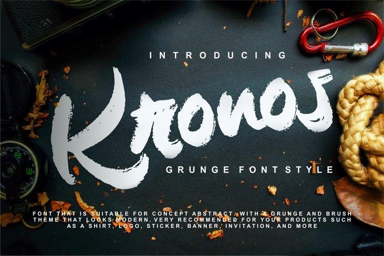 Kronos   Grunge Brush Typeface example image 1