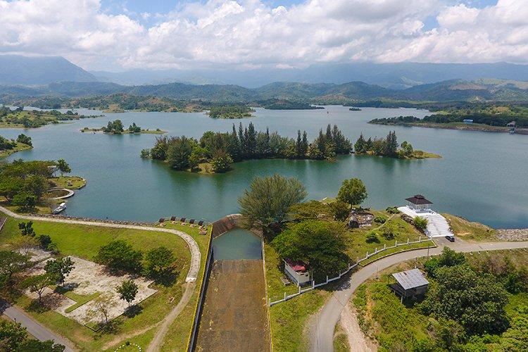Reservoir dam Keuliling in Aceh Indonesia