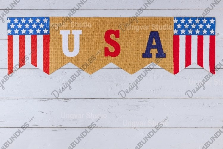 USA word of letters on celebrating US. federal holiday example image 1