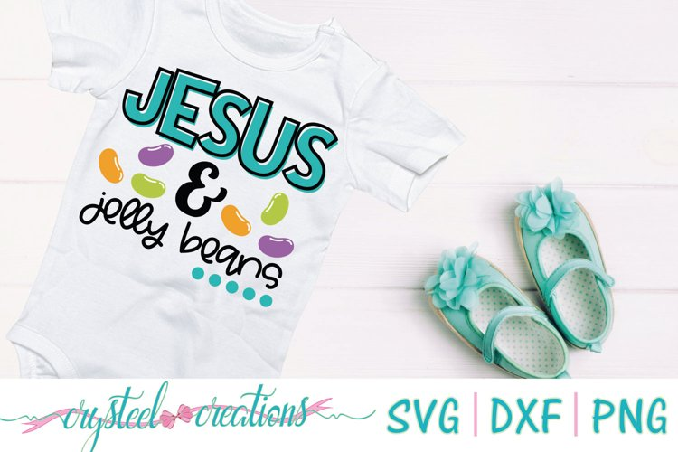 Jesus and Jelly Beans SVG, PNG, DXF example image 1