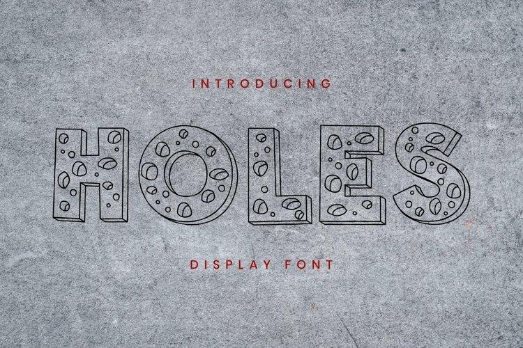 Web Font Holes Font example image 1