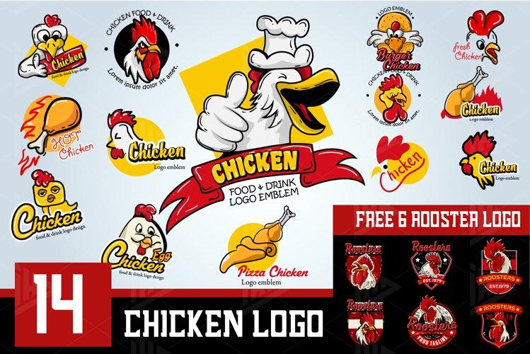 Set Chicken Logo Emblem example image 1