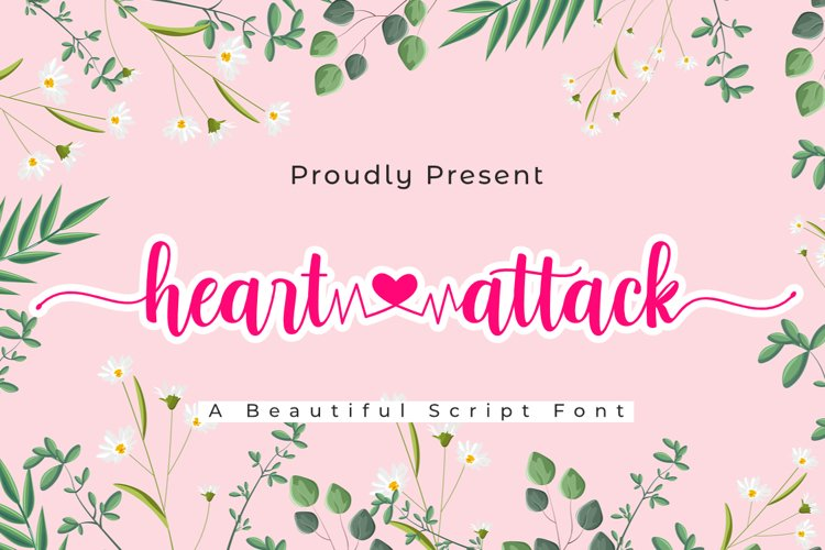Heart Attack | A Lovely Script Fpnt example image 1