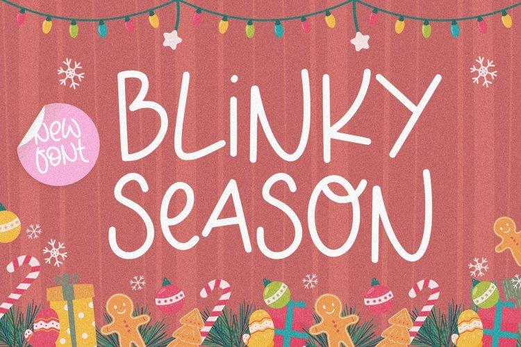 BLINKY SEASON Monoline Font example image 1