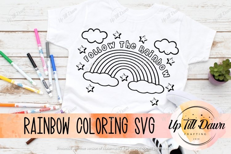 Rainbow Coloring SVG example image 1